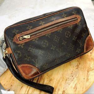 Louis Vuitton marly dragonne gm monogram clutch